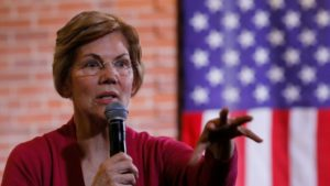 Potential 2020 U.S. Democratic presidential candidate and U.S. Senator Elizabeth Warren (D-MA)