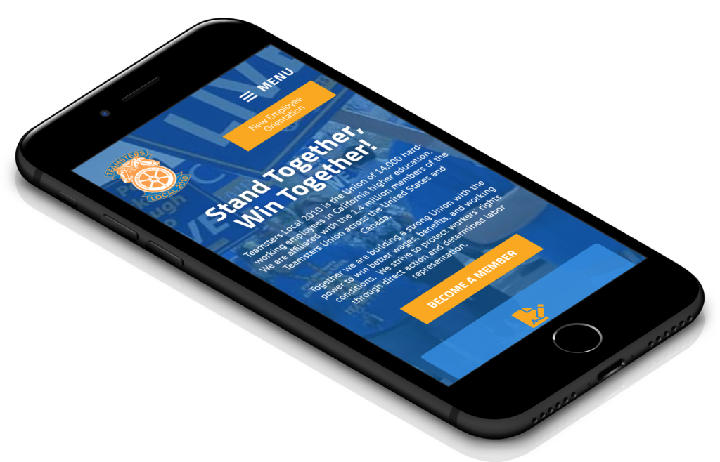 Teamsters Union Website Design